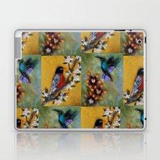 Hummingbird and Robin Laptop & iPad Skin