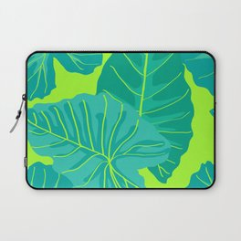 Giant Elephant Ear Leaves in Neon Lime Green Laptop Sleeve