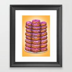 Donuts II 'Bon appetit Homer' Framed Art Print