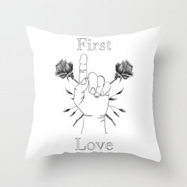Remember Your First Love Throw Pillow