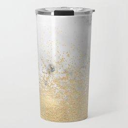 Gold Dust on Marble Travel Mug