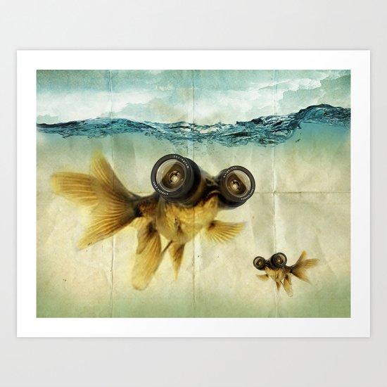 Fish eye lens 02 Art Print