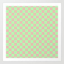 Checkered Pattern I Art Print