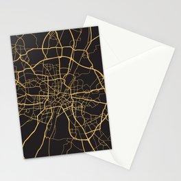 MUNICH GERMANY GOLD ON BLACK CITY MAP Stationery Cards