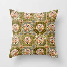 Persian Tile Butterfly Variation Throw Pillow