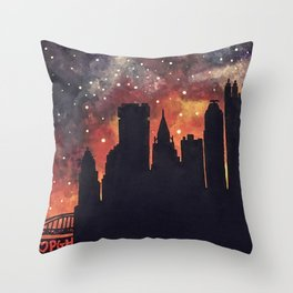 Starry Night in Pittsburgh Throw Pillow