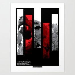 Striped: TTU vs BU 11/11/17 Art Print