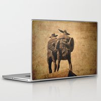 vikings Laptop & iPad Skins featuring Vikings Of Jarrow by Ray Pritchard