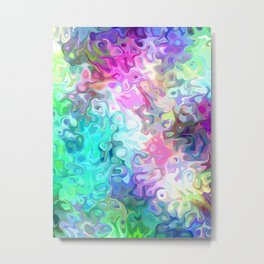 Pastel Confusion Abstract Metal Print