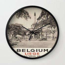 Vintage poster - Liege Wall Clock
