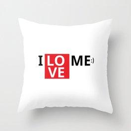 I love me i love myself Throw Pillow