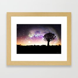 African galaxy skyline - Landscape Photography #Society6 Framed Art Print