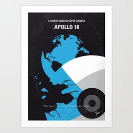 No873 My Apollo 18 minimal movie poster Art Print