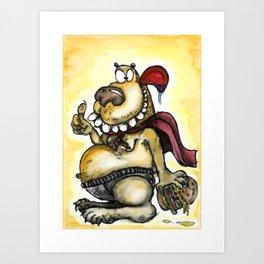 Crazy Funny Bear Art Print