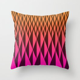 Foreign Wood at Dawn Throw Pillow