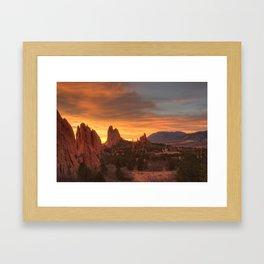 Fire of the Gods Framed Art Print