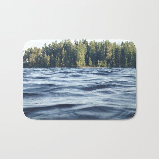 Summer Forest Lake Bath Mat