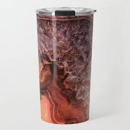 Copper Brown Agate Mineral Gemstone Geode Travel Mug