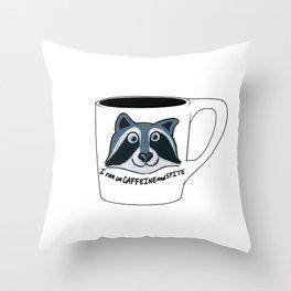 Caffeine and Spite Throw Pillow