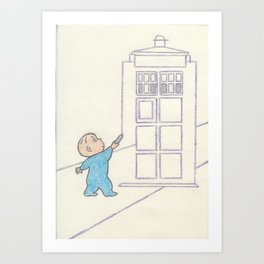 Harold and the Blue Box Art Print
