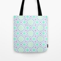 arabic Tote Bags featuring Arabic pattern by tuditees