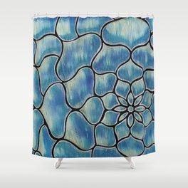 Water Flower Shower Curtain