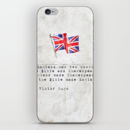 """Victor Hugo """"England has two books, the Bible and Shakespeare."""" iPhone Skin"""