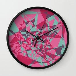 Broken mirror 2 - Geometric Abstract Wall Clock
