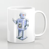 robot Mugs featuring Robot by Anthony Billings