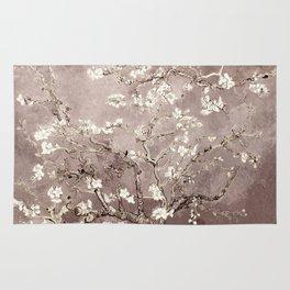 Vincent Van Gogh Almond Blossoms Beige Taupe Rug