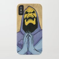 skeletor iPhone & iPod Cases featuring Saint Skeletor by Ghirigori Lab