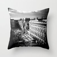milan Throw Pillows featuring milan by Leone Von Dizic