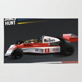 James Hunt McLaren F1  | Car | Automotive | Formula One Rug