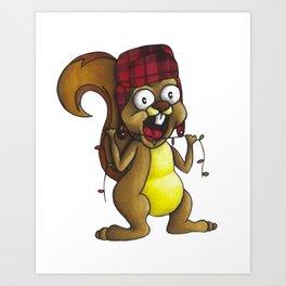 Earl the Squirrel Art Print