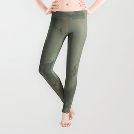 Golden Sea Foam Leggings