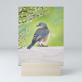 Bluebird and Blossoms Mini Art Print