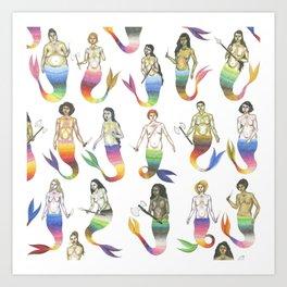 mermaid army II Art Print