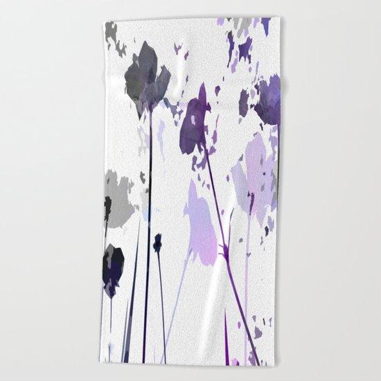 Field of Flowers Indigo Beach Towel