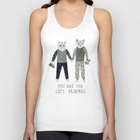 toddler Tank Tops featuring You are the Cat's Pajamas by Yuliya