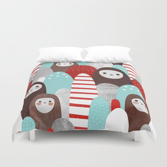 Gingerbread Spirits Duvet Cover