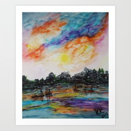 WAtercolor City Art Print