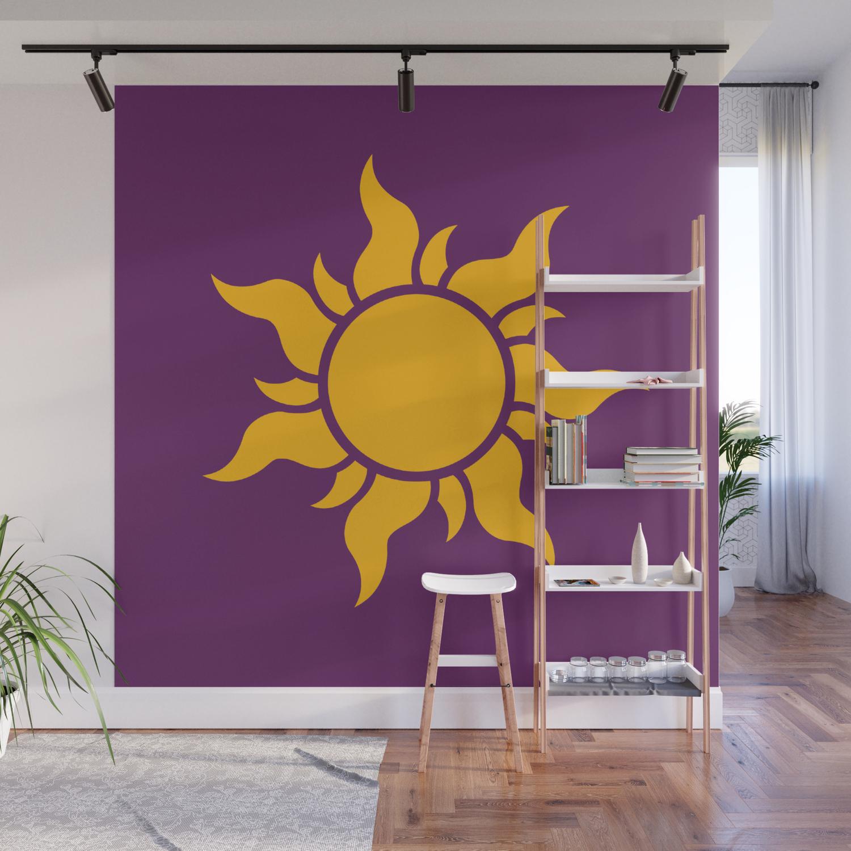 Tangled Rapunzel Sun Logo Corona Symbol Wall Mural By Teohoble Society6