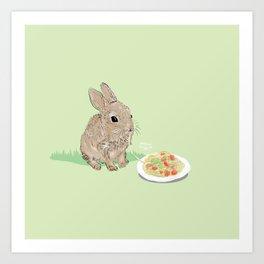 Sweet Rabbit Art Print