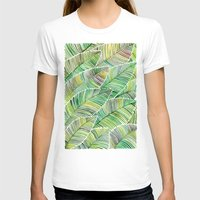tropical T-shirts featuring Tropical Green by Cat Coquillette