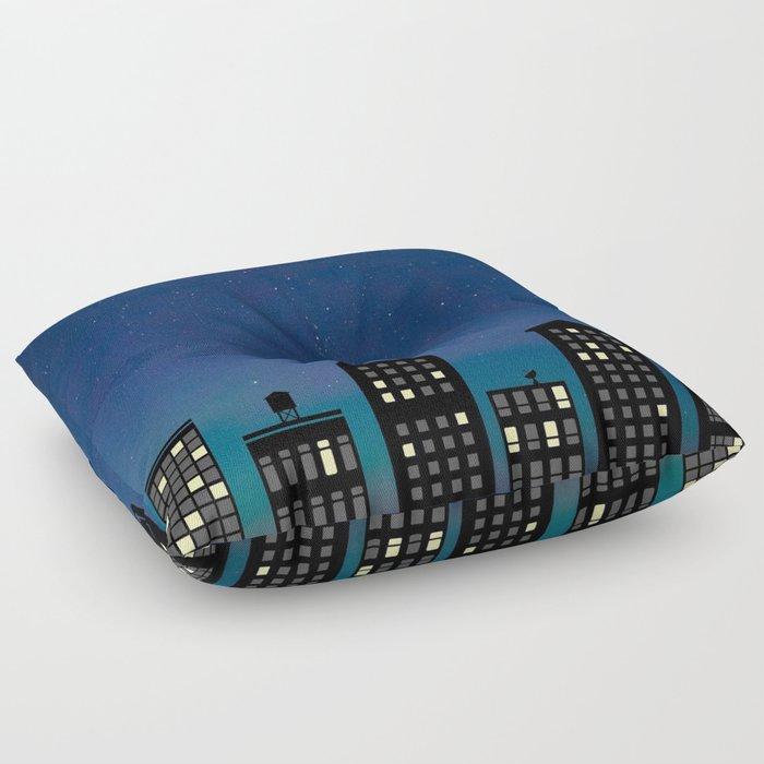 Night Life- The City Floor Pillow