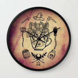 witchy strawberry mandrake Wall Clock