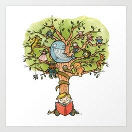 StoryTime Tree Art Print