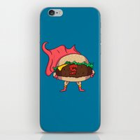 hamburger iPhone & iPod Skins featuring Hamburger Heroes by Chris Piascik