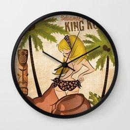 Seduciendo a King Kong Wall Clock