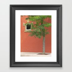 Small Town Color Framed Art Print